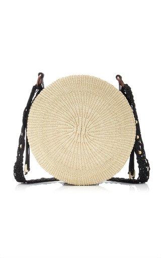 Straw and Macramé Shoulder Bag