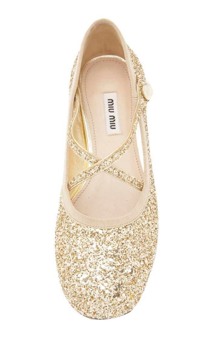Glittered Ballet Flats