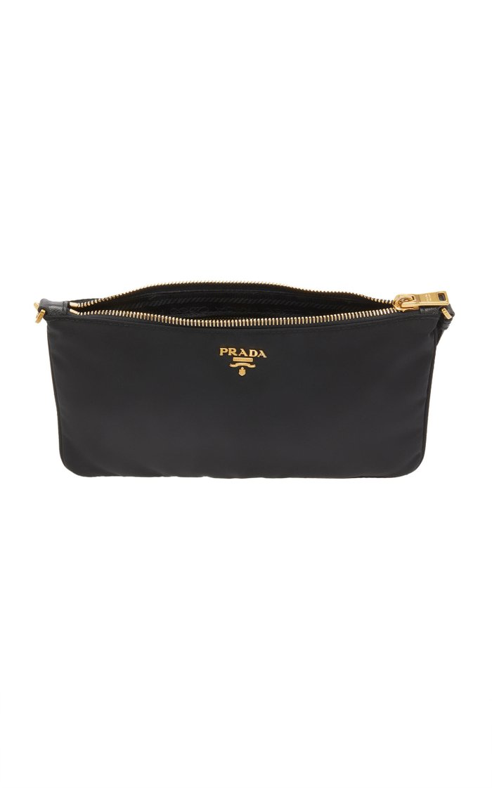 Logo-Detailed Nylon Wristlet