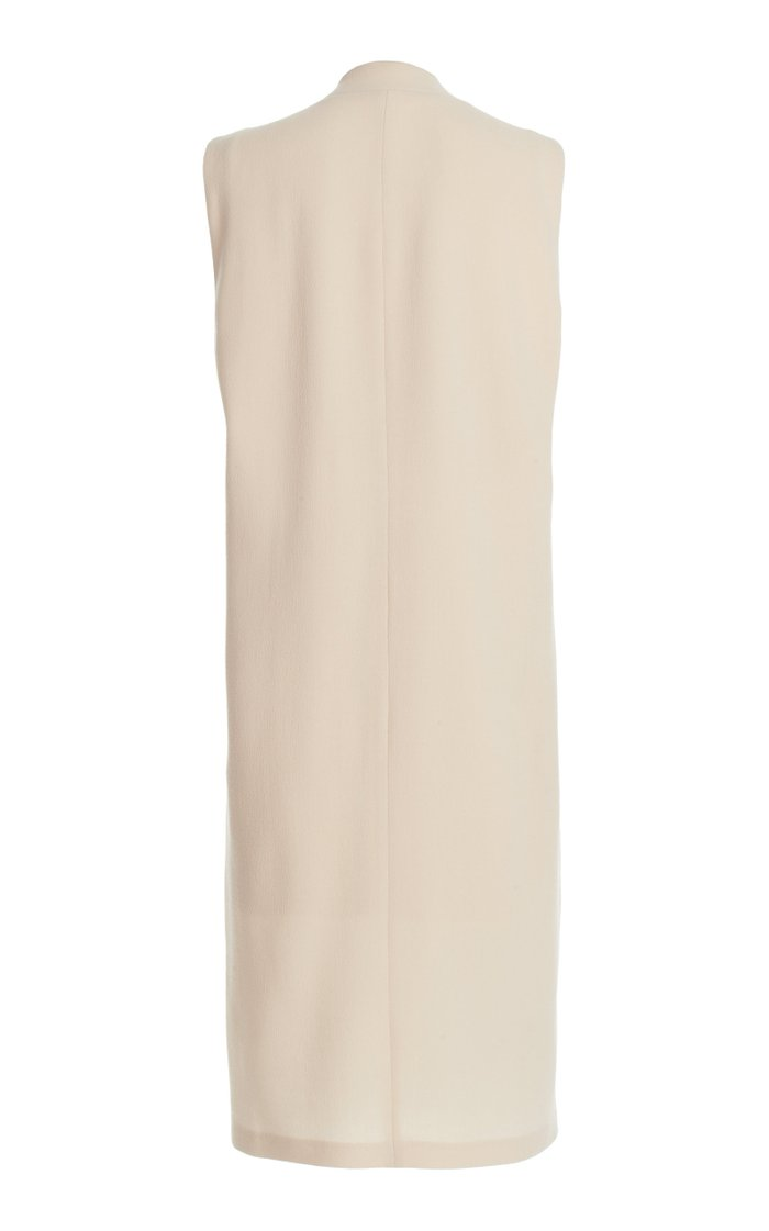 Jalen Wool-Crepe Drape Jacket