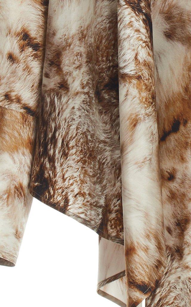 Clancy Printed Silk Twill Top