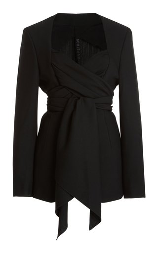 Joshua Silk Wool Criss-Cross Jacket