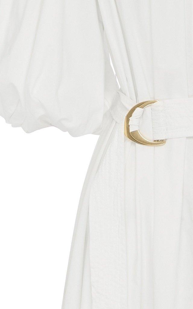 Peace Belted Organic Cotton Shirt Dress