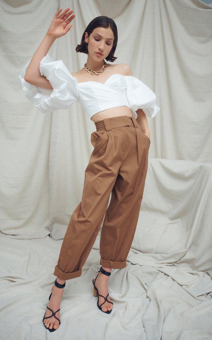 Parity Cotton Straight-Leg Pants