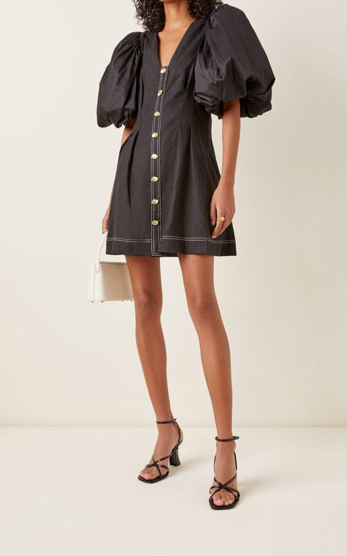 Quietude Linen Mini Dress