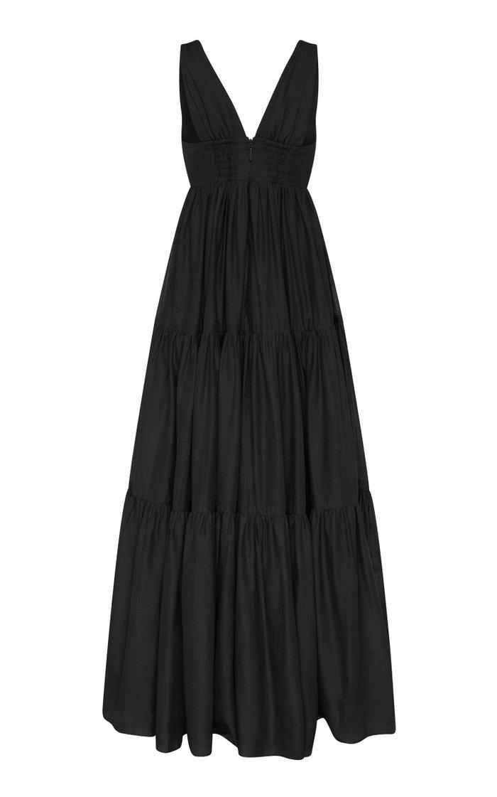 Unending Tiered Cotton Maxi Dress