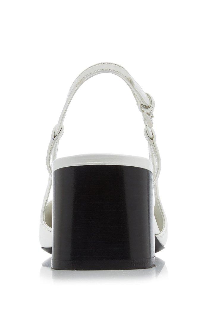 Leather Slingback Pumps