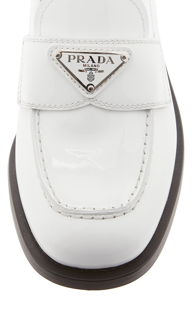 Logo-Detailed Patent Leather Loafers
