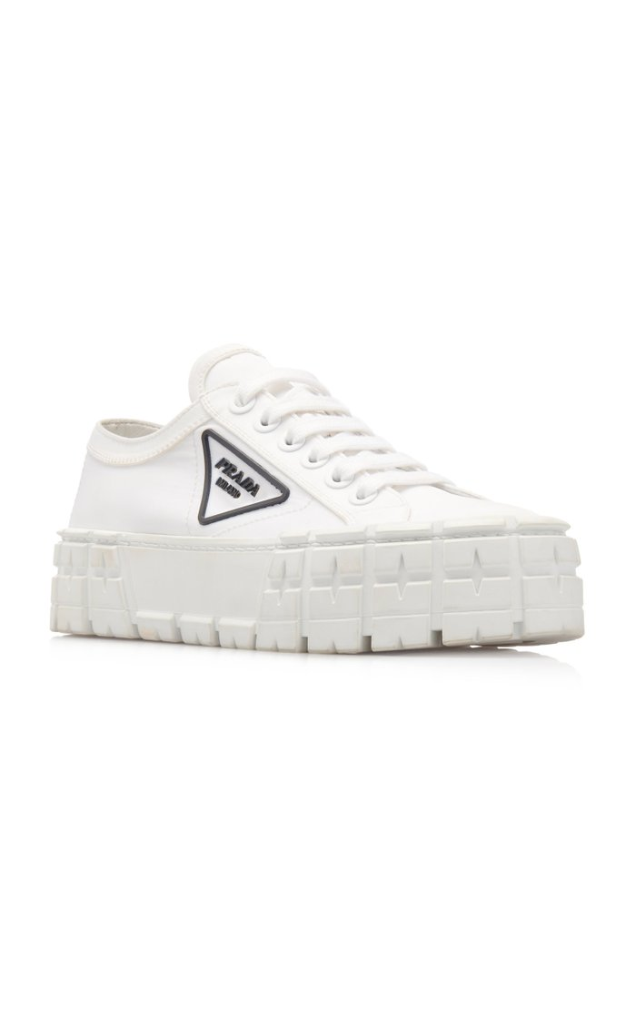 Logo-Detailed Nylon Platform Sneakers