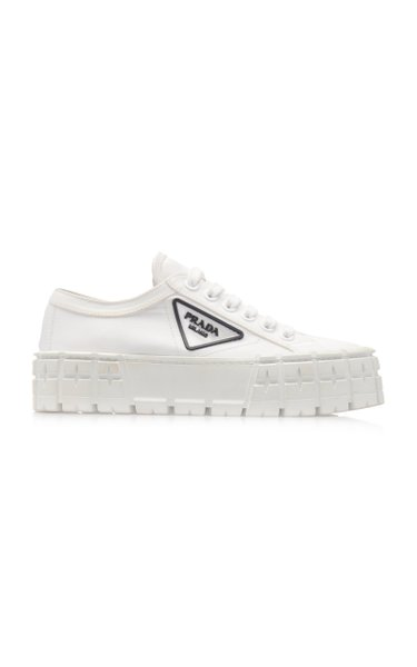 Logo-Detailed Nylon Platform Sneakers