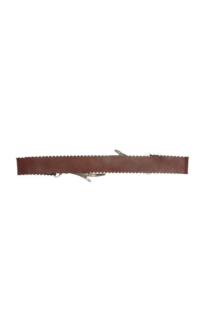 Interlocking Hands Leather Belt