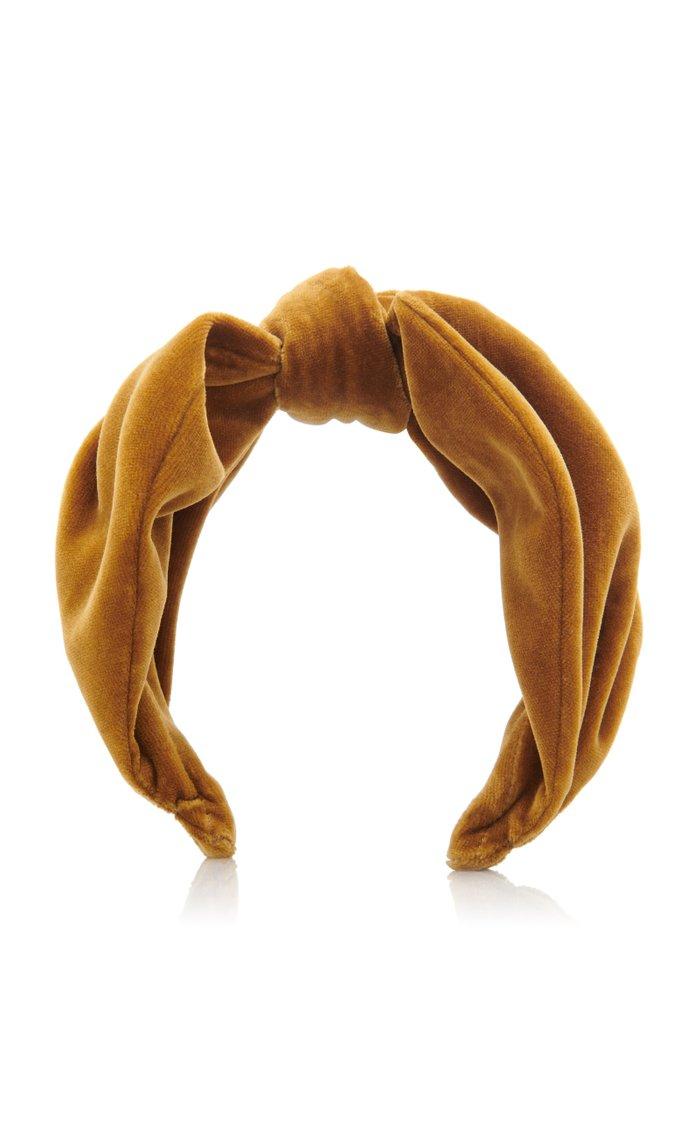 Knotted Velvet Headband