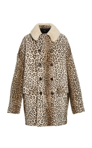 Hunting Oversized Double-Breasted Faux-Shearling Coat