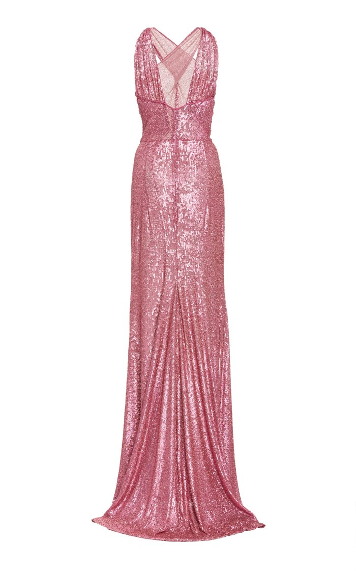 Criss-Cross Sequin Gown