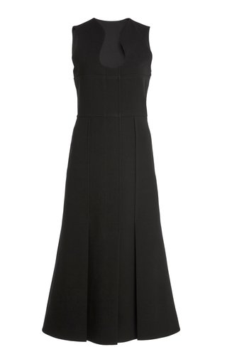 Bonded Crepe Midi Pocket Dress