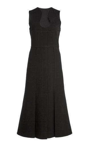 Bonded Crepe Midi Pocket Dress
