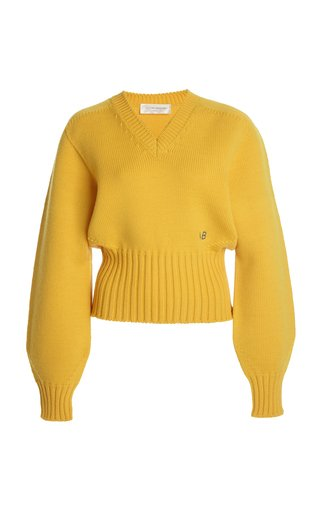 Oversized Ribbed Wool-Blend Sweater
