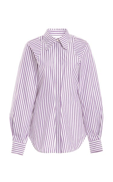Tapered Striped Cotton Shirt