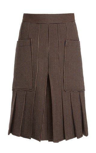 Pleated Checked Culottes