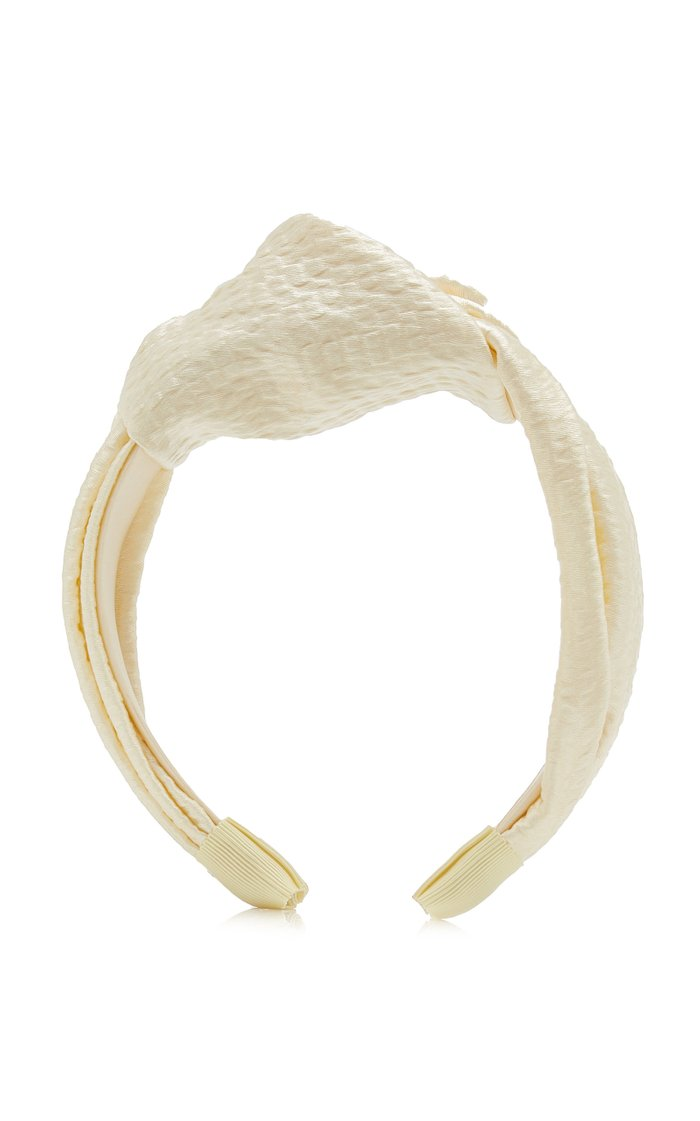 Samaya Knotted Hammered Silk Satin Headband
