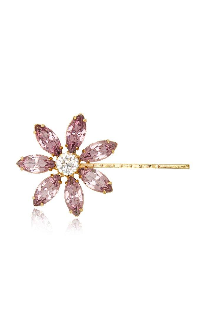 Santana Crystal-Embellished Floral Bobby Pin