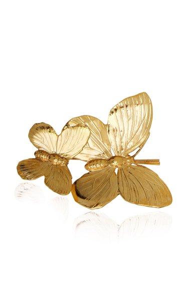 Mazarine Brass Butterfly Bobby Pin