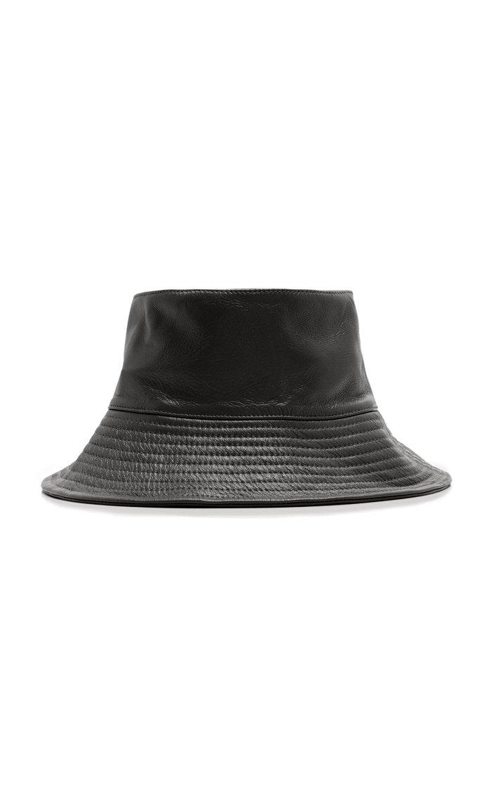 Ebi Leather Bucket Hat