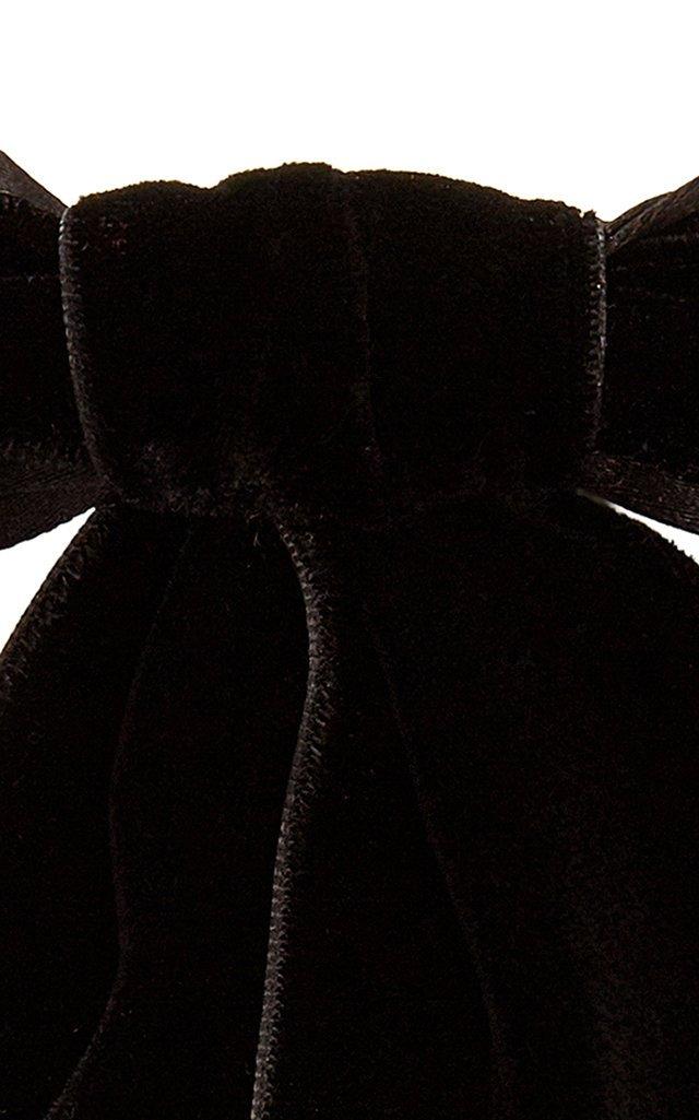 Bow-Embellished Velvet Barrette