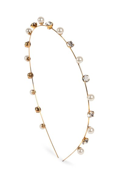 Ines Crystal and Pearl-Embellished Headband
