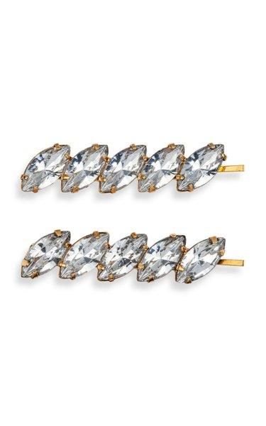 Set-of-Two Windsor Crystal-Embellished Bobby Pins