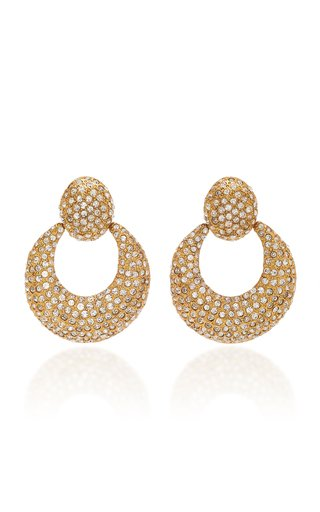 Miranda Brass and Swarovski Crystal Earrings