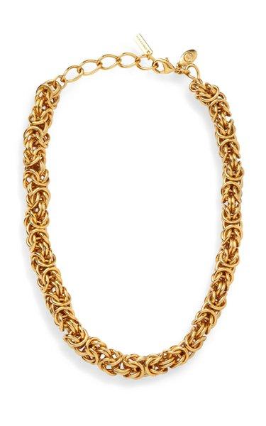Zyra Brass Chain Necklace