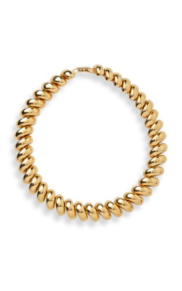 Gold Brass Collar Necklace