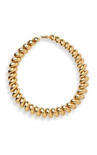 Gold Brass Collar Necklace
