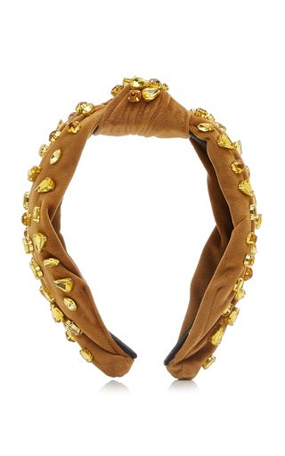 Candy Jeweled Knotted Crystal-Embellished Headband