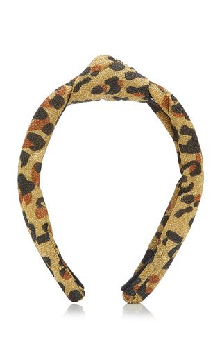Knotted Leopard Lurex Headband