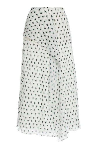 Falun Polka-Dot Chiffon Skirt