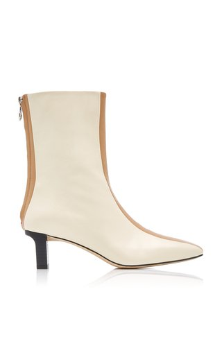 Molly Stripe-Detail Leather Ankle Boots
