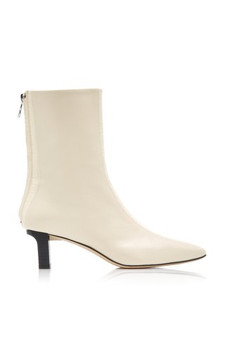 Molly Croc-Detail Leather Ankle Boots