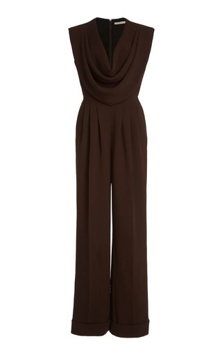 Desma Draped Crepe Jumpsuit