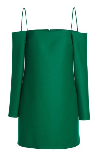 Maida Off-The-Shoulder Wool Mini Dress
