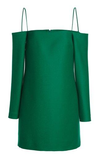 Maida Off-The-Shoulder Wool Mini Dress