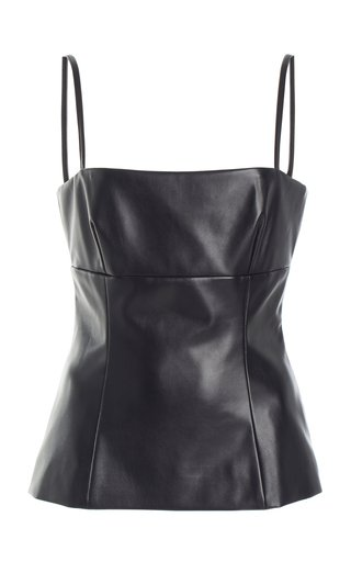 Basset Sleeveless Faux Leather Top