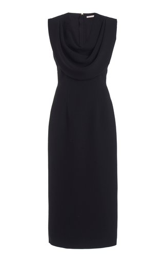 Yuri Draped Crepe Midi Dress