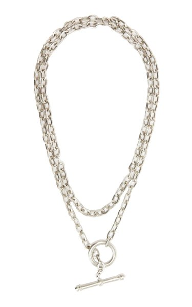 Exclusive Chainlink Silver-Plated Brass Necklace
