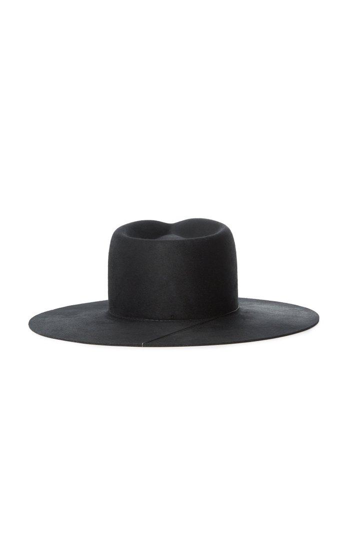 Ruby Wool Wide-Brim Hat