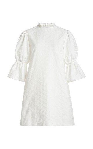 Gathered Sleeve Mini Dress