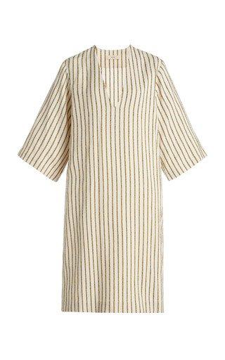 V Neck Stripe Dress