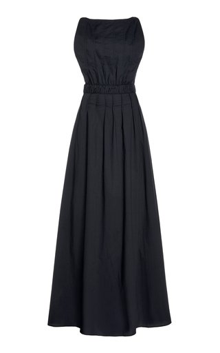 Shoestring Low Back Dress With Pintucks