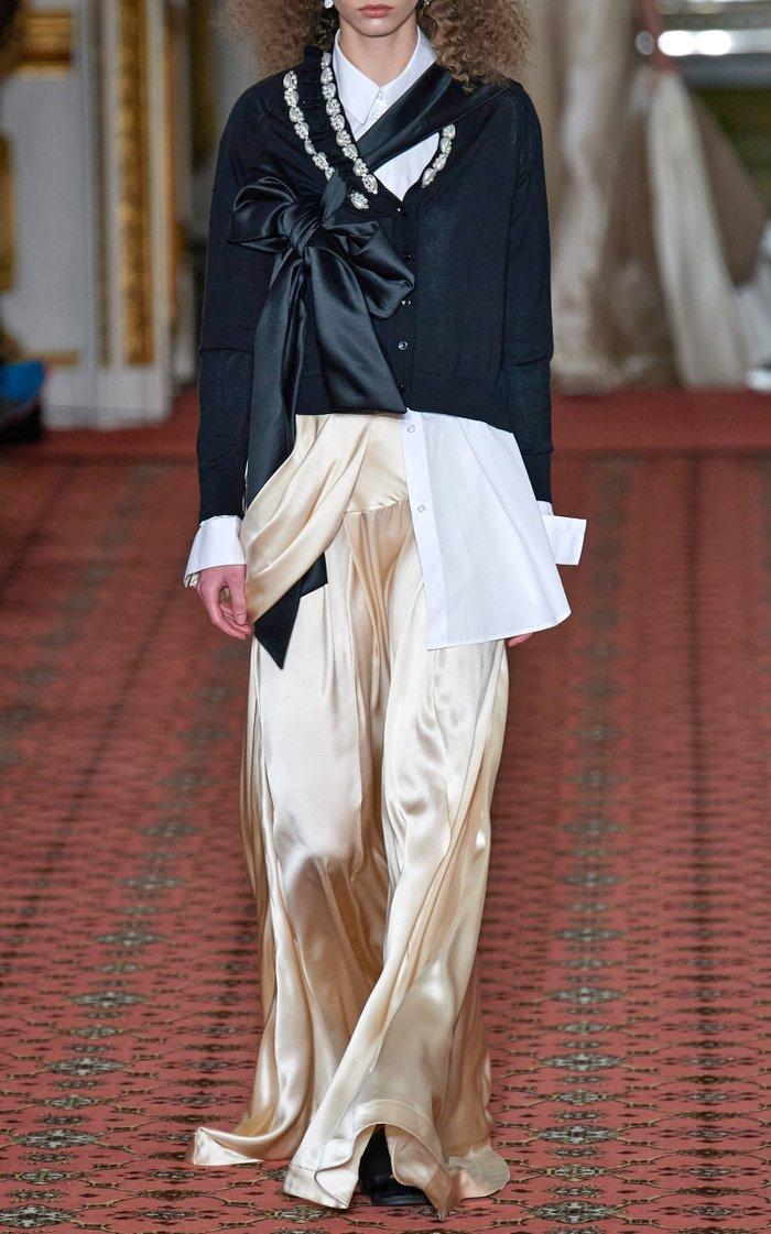 Embellished Wool-Blend Cardigan